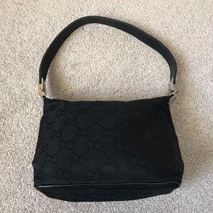 Gucci Vintage Small Logo Silver Hardware Handbag
